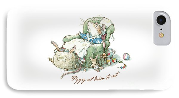Brambly Hedge - Poppy Sat Down To Rest IPhone Case by Brambly Hedge