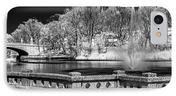 IPhone Case featuring the photograph Branch Brook Park New Jersey Ir by Susan Candelario