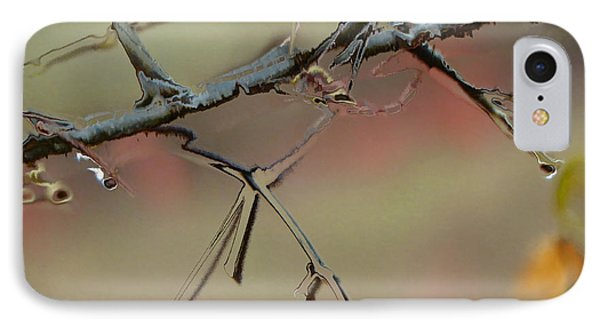 Branch With Water Abstract IPhone Case by Craig Walters