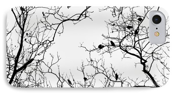 Branches And Birds IPhone 7 Case by Sandy Taylor
