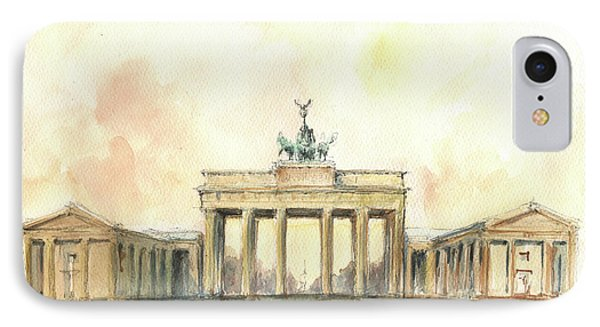 Berlin iPhone 7 Case - Brandenburger Tor, Berlin by Juan Bosco