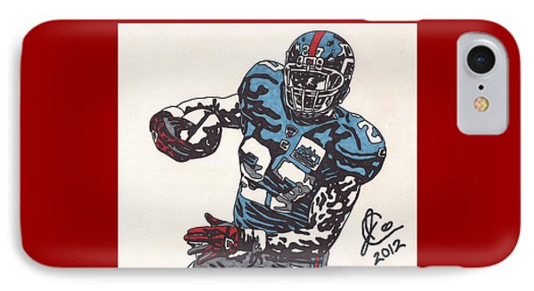 Brandon Jacobs 1 IPhone Case by Jeremiah Colley