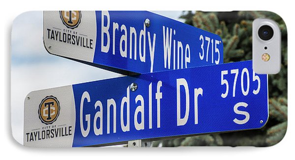 IPhone Case featuring the photograph Brandywine And Gandalf Street Signs by Gary Whitton