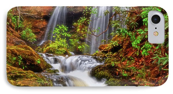 Brasstown Falls 013 IPhone Case by George Bostian