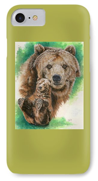 IPhone Case featuring the painting Brawny by Barbara Keith