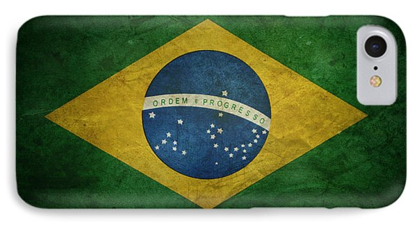 Brazil Flag IPhone Case by Les Cunliffe