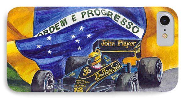 Brazil's Ayrton Senna IPhone Case by Clara Sue Beym