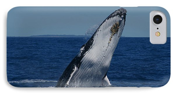 IPhone Case featuring the photograph Breaching Humpback Whale by Gary Crockett