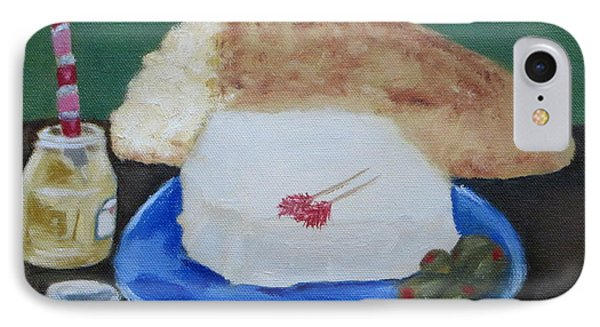 IPhone Case featuring the painting Bread And Cheese by Patricia Cleasby