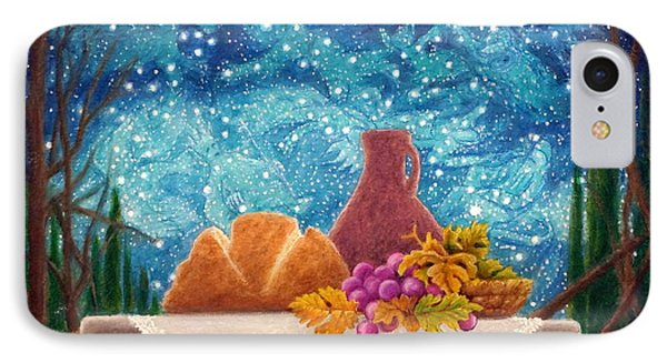 IPhone Case featuring the painting Bread And The Fruit Of The Vine by Matt Konar