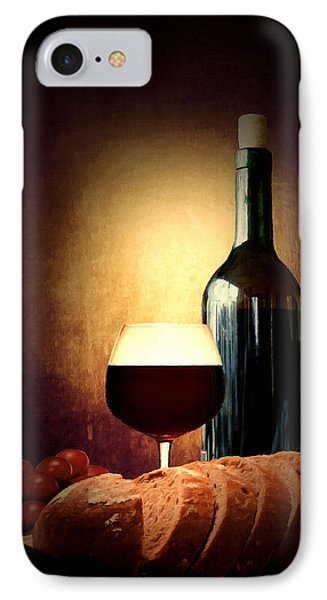 Bread And Wine IPhone Case by Lourry Legarde