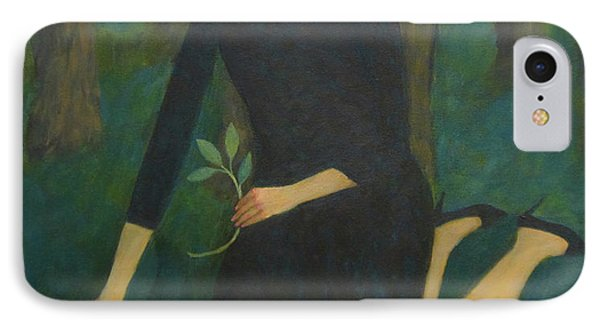 IPhone Case featuring the painting Break In The Evening by Glenn Quist