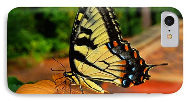 IPhone Case featuring the photograph Breakfast At The Gardens - Swallowtail Butterfly 005 by George Bostian