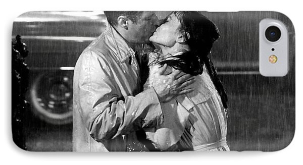 IPhone Case featuring the photograph Breakfast At Tiffanys Audrey Hepburn And George Peppard by R Muirhead Art