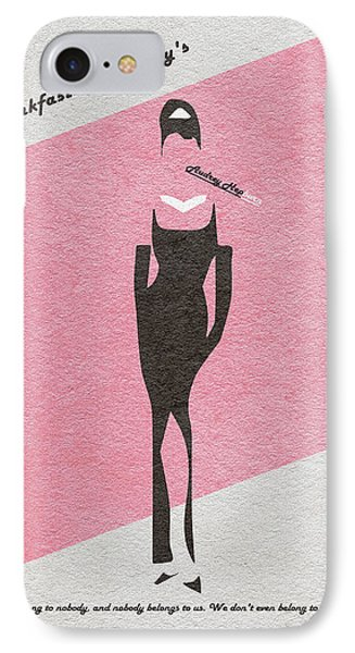 Breakfast At Tiffany's IPhone 7 Case by Ayse Deniz