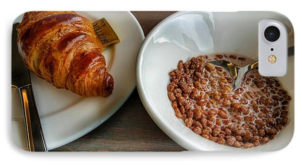 Breakfast Of Cereal And Croissant IPhone Case