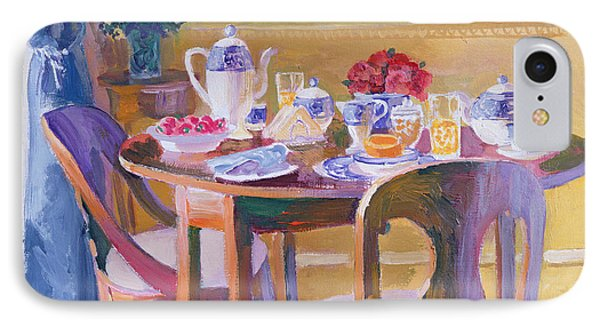 Breakfast Table IPhone Case by William Ireland