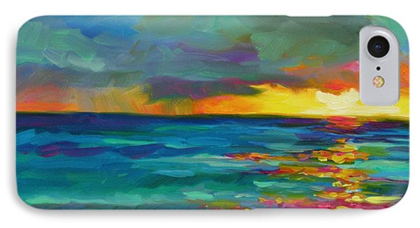 IPhone Case featuring the painting Breaking Light by Chris Brandley