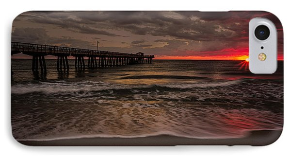 Breaking Waves At The Pier IPhone Case