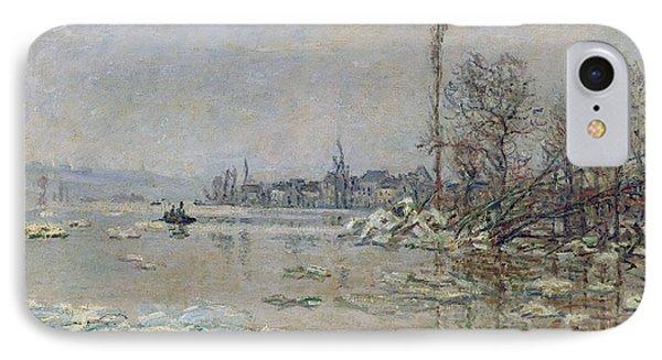 Breakup Of Ice IPhone Case by Claude Monet
