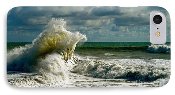 Breakwater Backwash IPhone Case by Michael Cinnamond