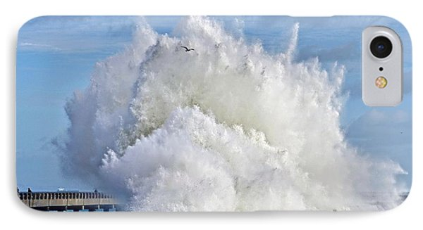 Breakwater Explosion IPhone Case by Michael Cinnamond