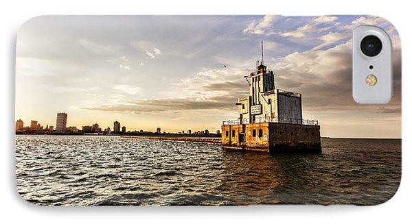 Breakwater Lighthouse IPhone Case by CJ Schmit