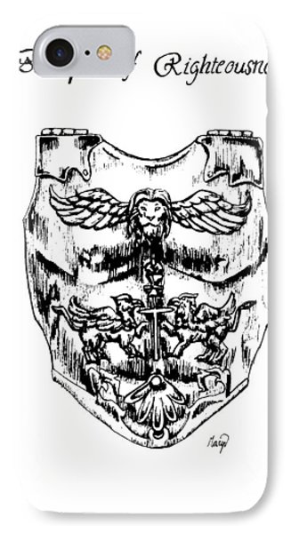 Breastplate Of Righteousness Phone Case by Maryn Crawford