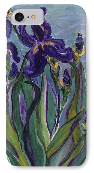 Breath Of Iris Phone Case by Bev Veals