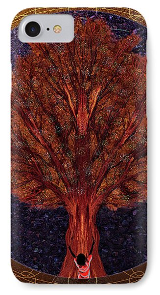 IPhone Case featuring the digital art Breath Spirit Life by Iowan Stone-Flowers