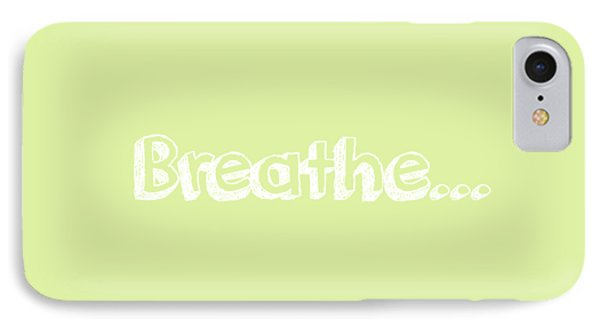 Breathe - Customizable Color IPhone Case by Inspired Arts