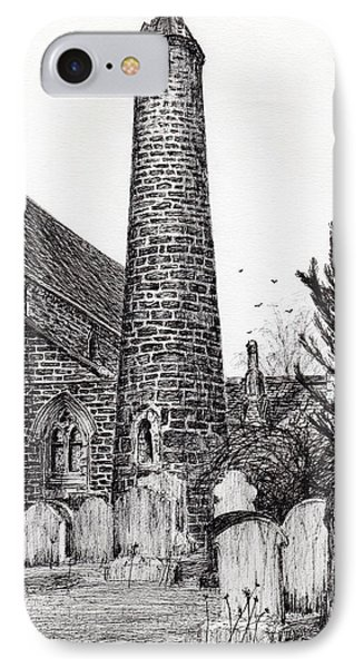 Brechin Round Tower IPhone Case by Vincent Alexander Booth
