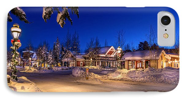 Breckenridge Winter Morning IPhone Case by Michael J Bauer