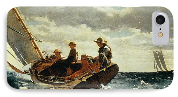 Breezing Up IPhone Case by Winslow Homer