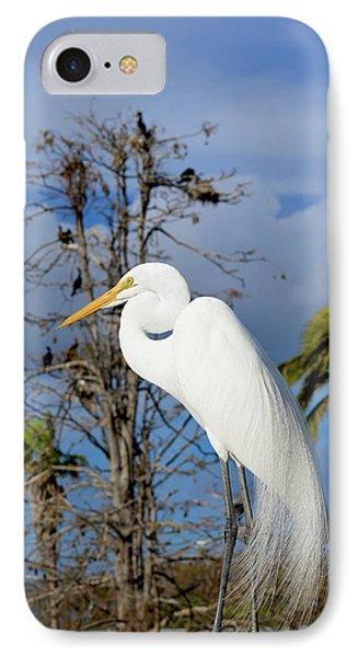 Breezy Egret IPhone Case
