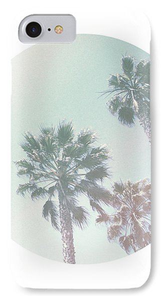 Breezy Palm Trees- Art By Linda Woods IPhone Case by Linda Woods