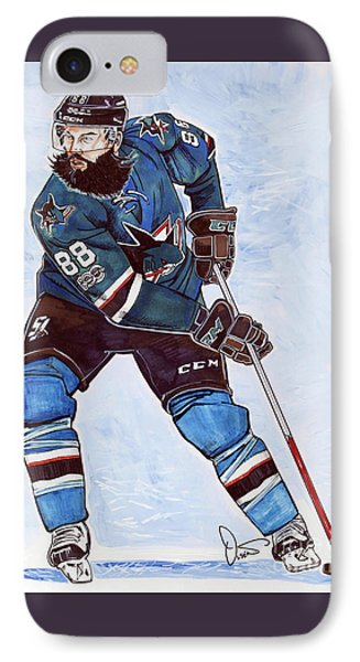 Brent Burns IPhone Case by Dave Olsen