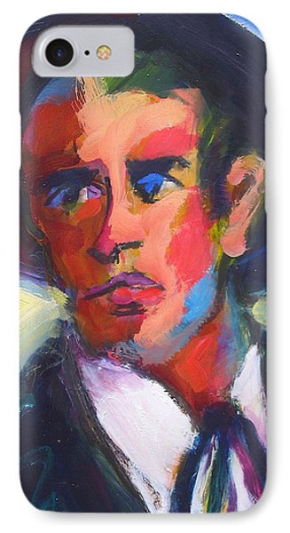 IPhone Case featuring the painting Bret Maverick by Les Leffingwell