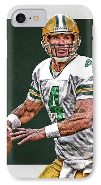 Brett Favre Green Bay Packers Art IPhone Case