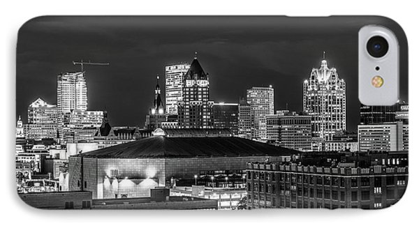 IPhone 7 Case featuring the photograph Brew City At Night by Randy Scherkenbach