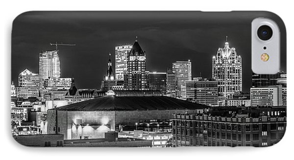 IPhone Case featuring the photograph Brew City At Night by Randy Scherkenbach