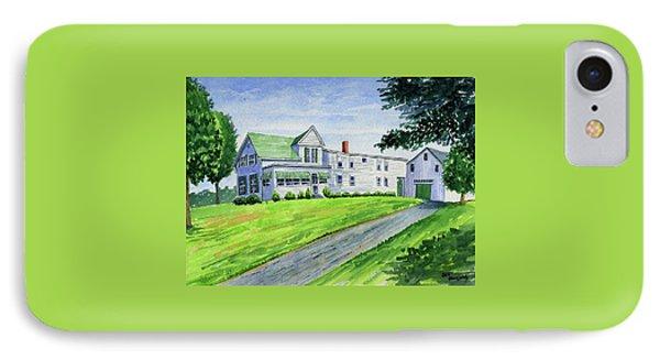 Brewer Family Farm, Augusta Maine IPhone Case by Jeff Blazejovsky