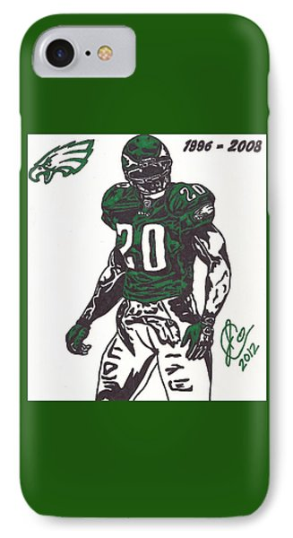 IPhone Case featuring the drawing Brian Dawkins 3 by Jeremiah Colley