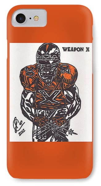 IPhone Case featuring the drawing Brian Dawkins by Jeremiah Colley