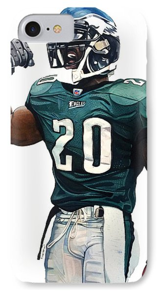 Brian Dawkins - Philadelphia Eagles IPhone Case by Michael Pattison
