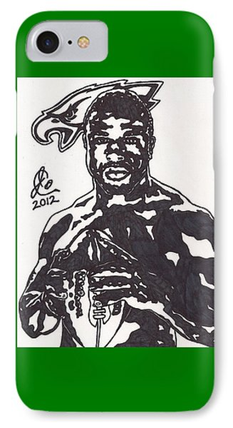IPhone Case featuring the drawing Brian Westbrook by Jeremiah Colley