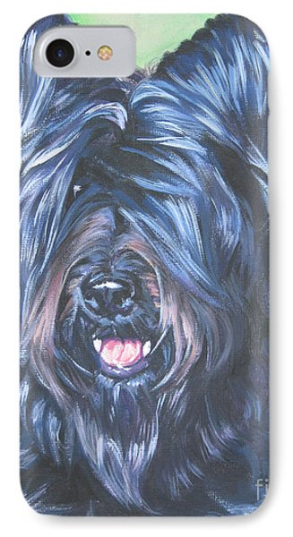 Briard With Cropped Ears IPhone Case by Lee Ann Shepard