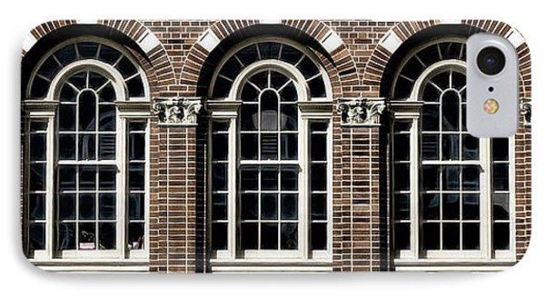 IPhone Case featuring the photograph Brick Arch Windows by Brad Allen Fine Art