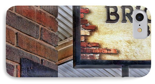 IPhone Case featuring the photograph Brick Bar by Nikolyn McDonald