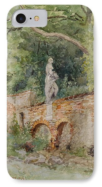 Brick Bridge With A Stone Figure IPhone Case by Marie Egner